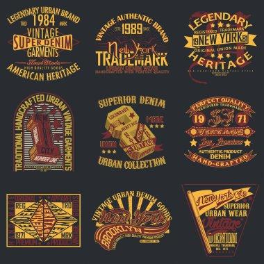 set of tee shirt print design