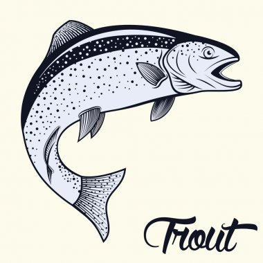 Jumping trout isolated