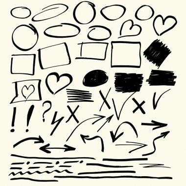 Hand drawn vector abstract elements