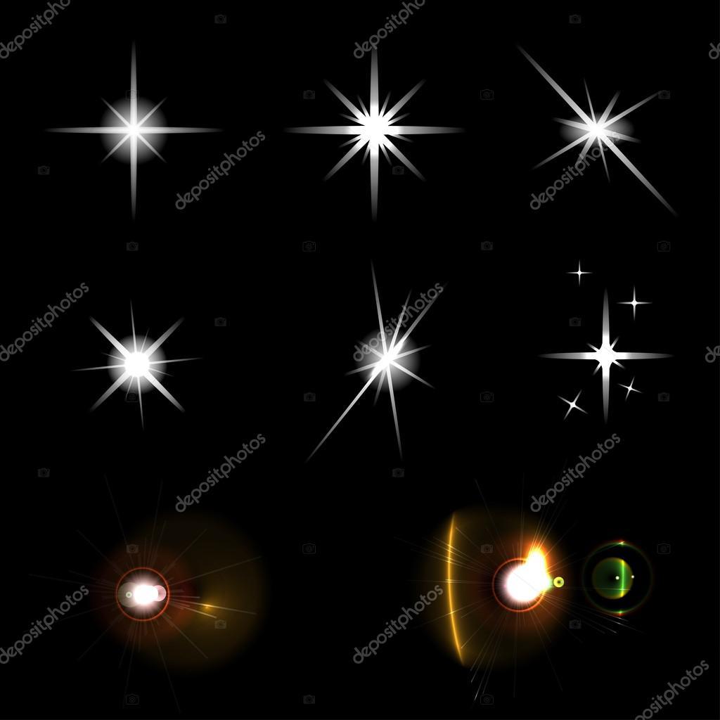 Ster verlichting set — Stockvector © z0504574832.gmail.com #99819804