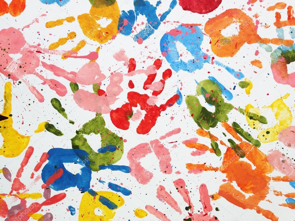 Hands Kids Color Art Wallpaper