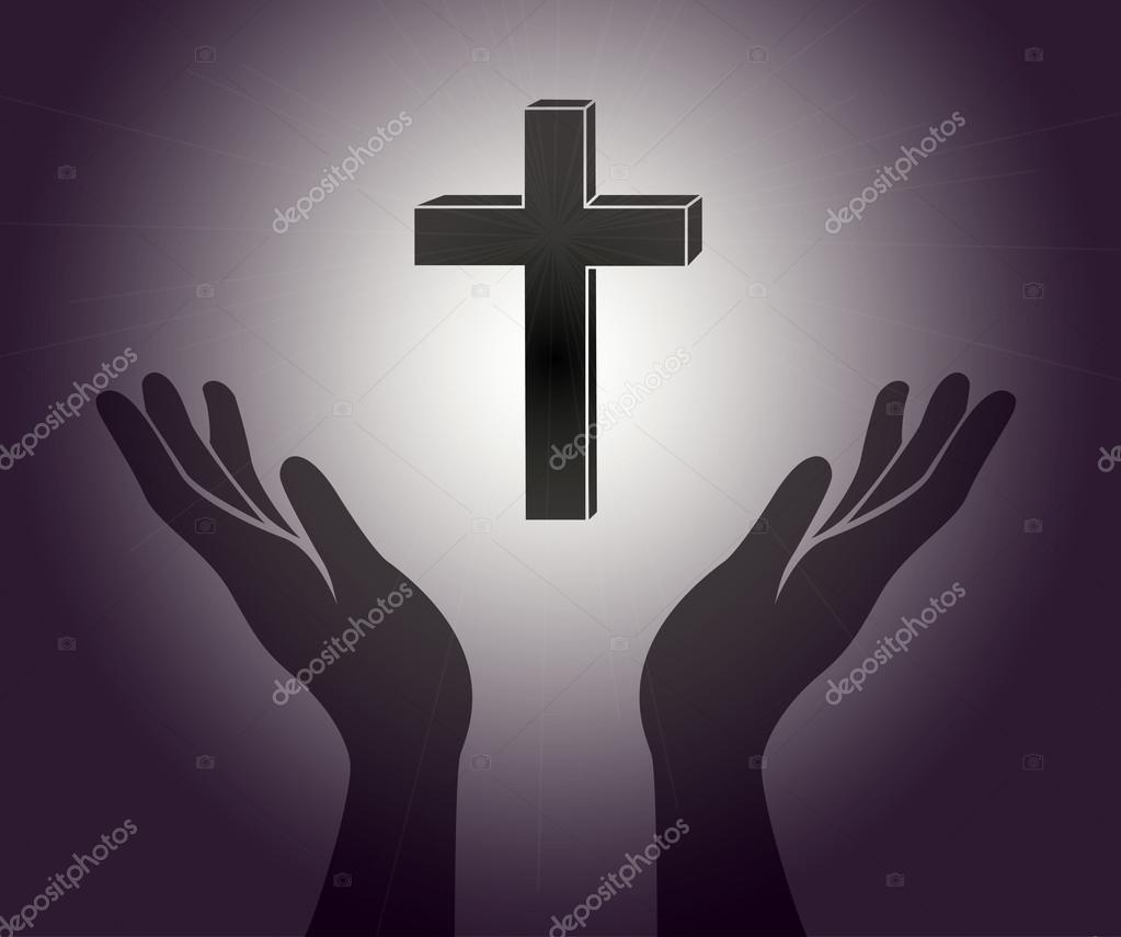 hand and the jesus christ cross sign u2014 stock vector h santima