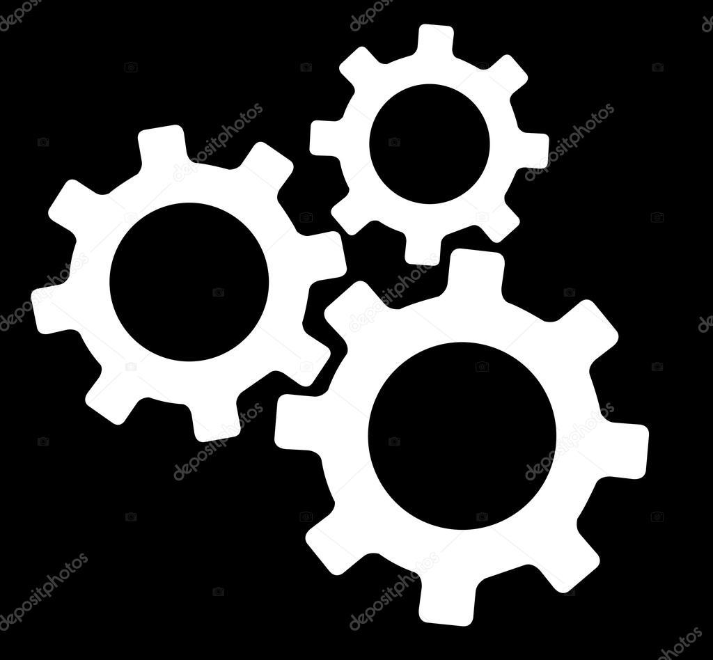 Famosos engrenagem engenharia simbolo vector — Vetores de Stock © h  BA53