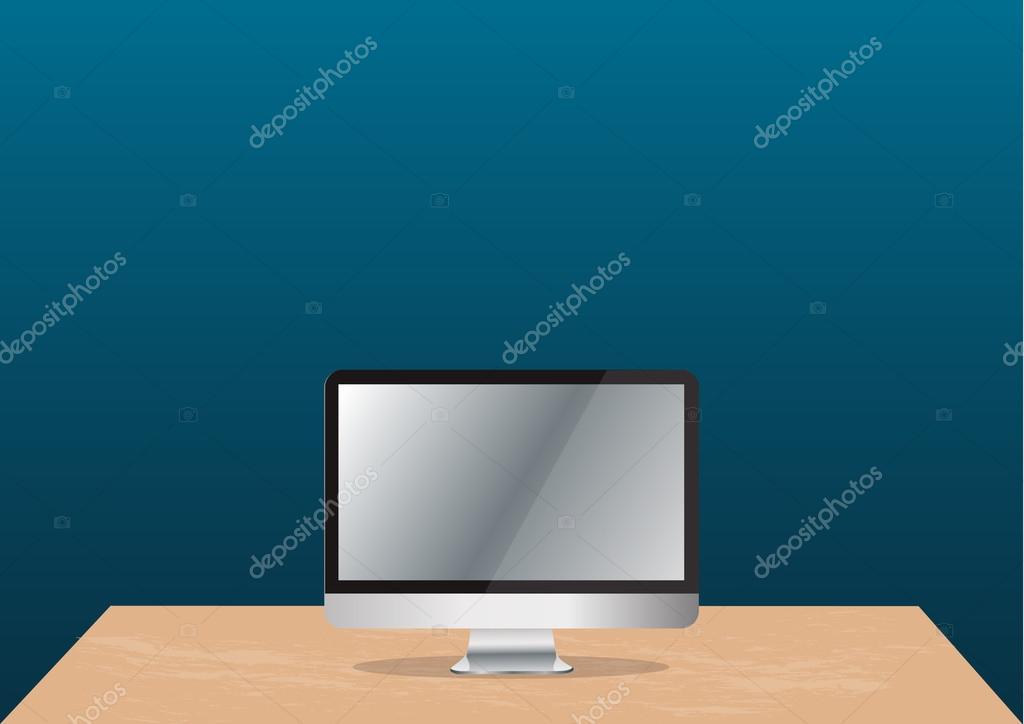 Sfondo Pc Ufficio Computer Su Sfondo Scrivania E Spazio Ufficio