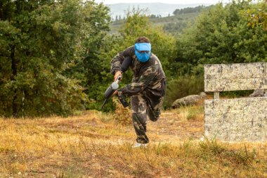 8 September 2021, A Paintball Game in a Raining Day in