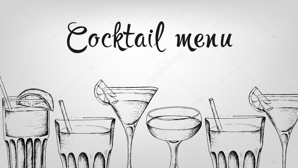 Vektor Vorlage der Cocktailkarte — Stockvektor © Tanya_Gord #121406642
