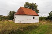 Kaple Panny Marie Bolestne Kapelle aus dem 19. Jahrhundert oberhalb des Dorfes Popice in der Nähe von Znojmo in der Tschechischen Republik