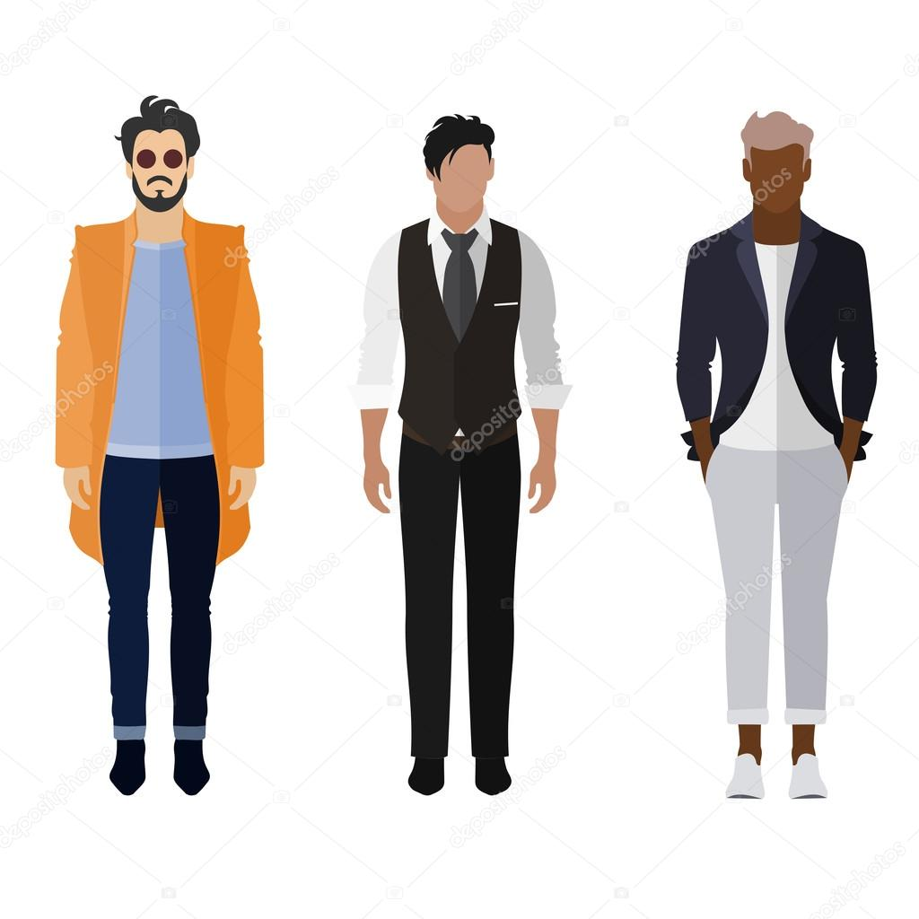 Mens Fashion Illustration Suit