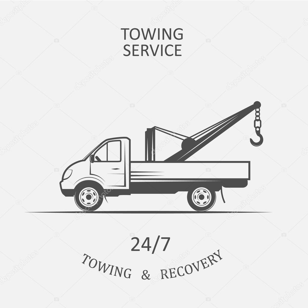 LKW für das Abschleppen und Erholung — Stockvektor © Chekky #115316584