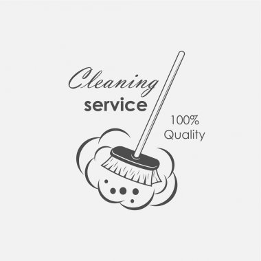 cleaning service emblems