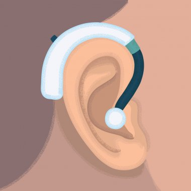 Ear hearing aid ear listen sound graphics