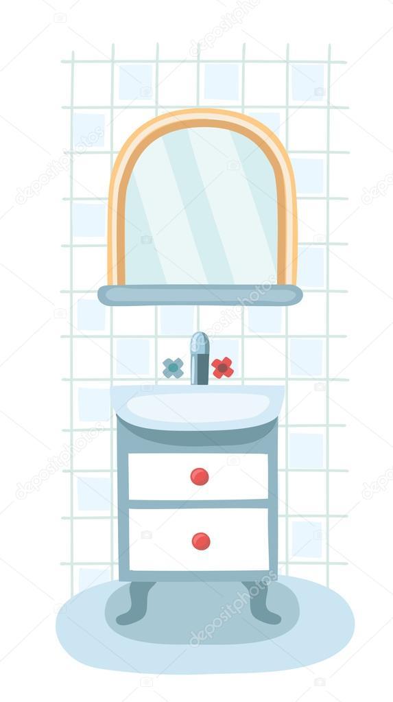 Elementos para el cuarto de ba o moderno espejo repisa y for Elementos para el bano