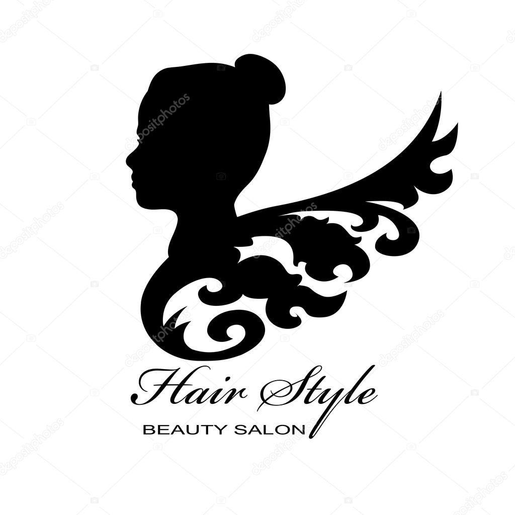 beauty female face logo design � stock vector
