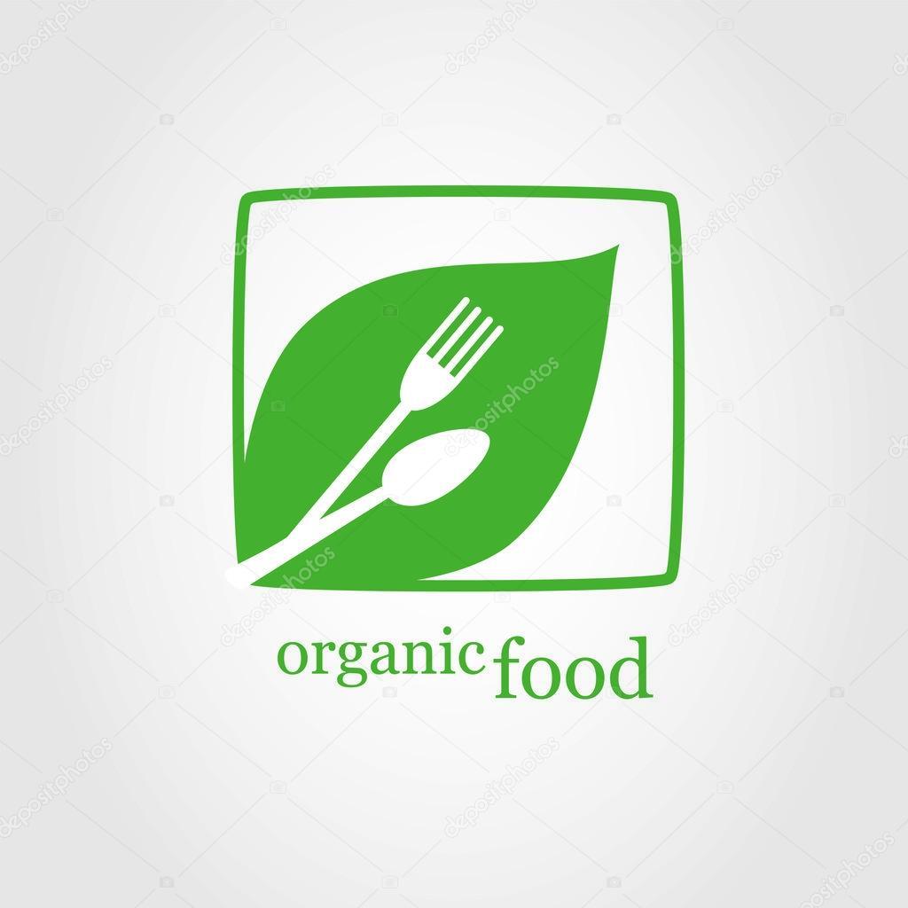 logo di alimenti biologici cibo logo logo ristorante