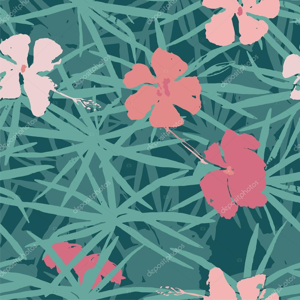 tropical seamless pattern in vector.