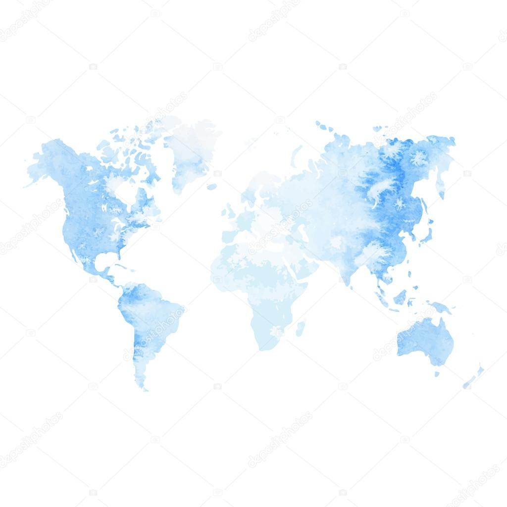 Watercolor world map stock vector bigbadmutuhyahoo 97988520 watercolor world map stock vector gumiabroncs Gallery