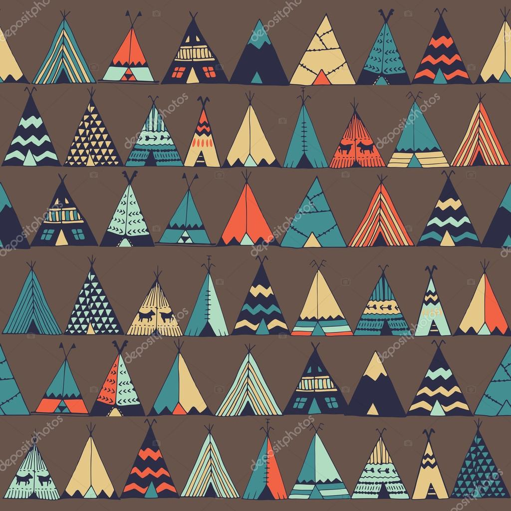 Teepee native american summer tent illustration in vector.