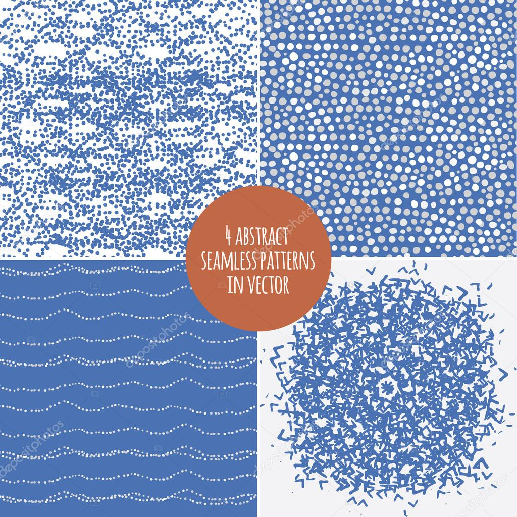 Set of four seamless abstract pattern.