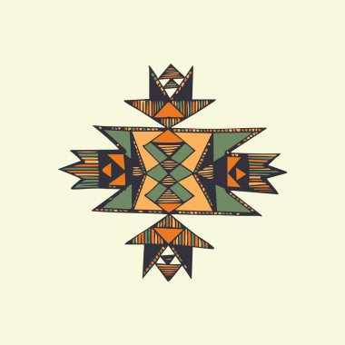 Hand drawn native american symbol in vector.