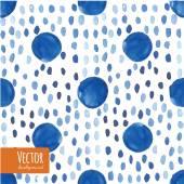 Abstraktní modré indigo uvázat obarvené akvarel pozadí ve vektoru