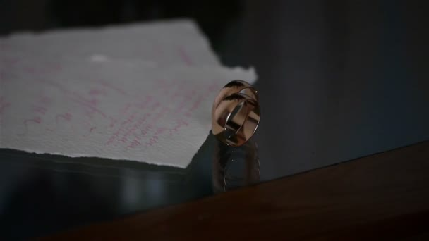 Wedding Invitation card with rings