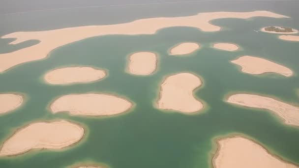 Islands in the Dubai on the world map aerial view