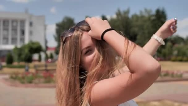 Young teen girl posing on a summer day.
