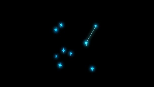 Ariesanimation constellation Sagittarius - Star and contours