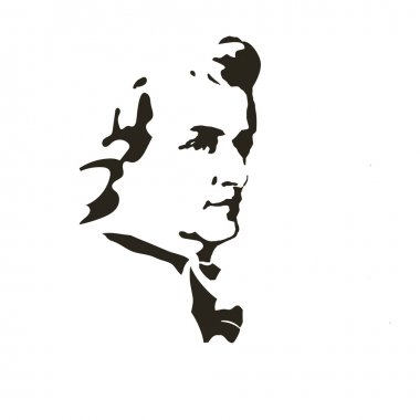 Composer Wolfgang Amadeus Mozart. vector portrait