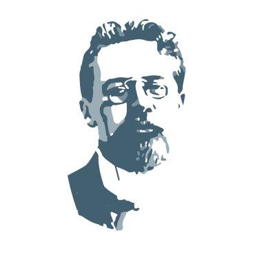 Anton Pavlovich Chekhov, vector portrait
