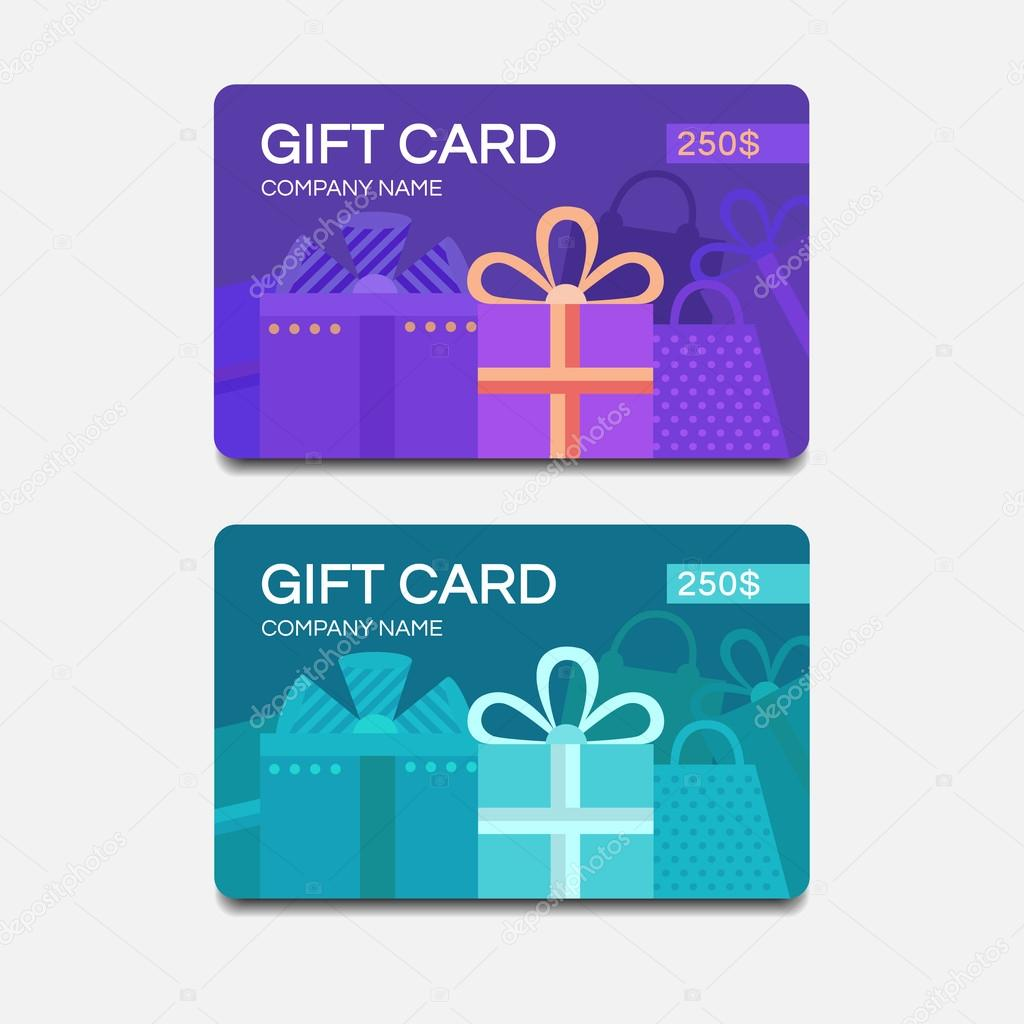 Vektor-Geschenk-Karten — Stockvektor © dasha.ef.design.gmail.com ...
