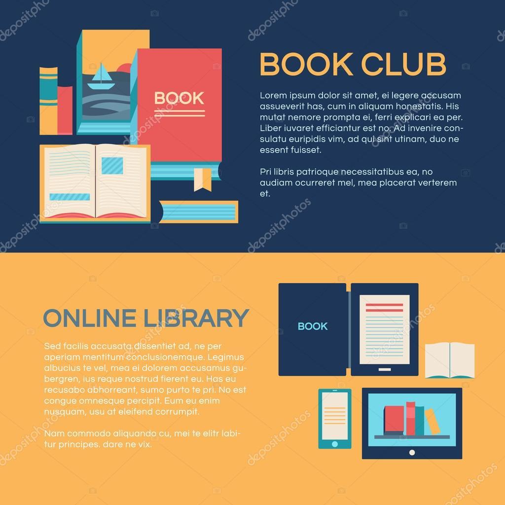 Banner-Vorlage mit Büchern — Stockvektor © dasha.ef.design.gmail.com ...