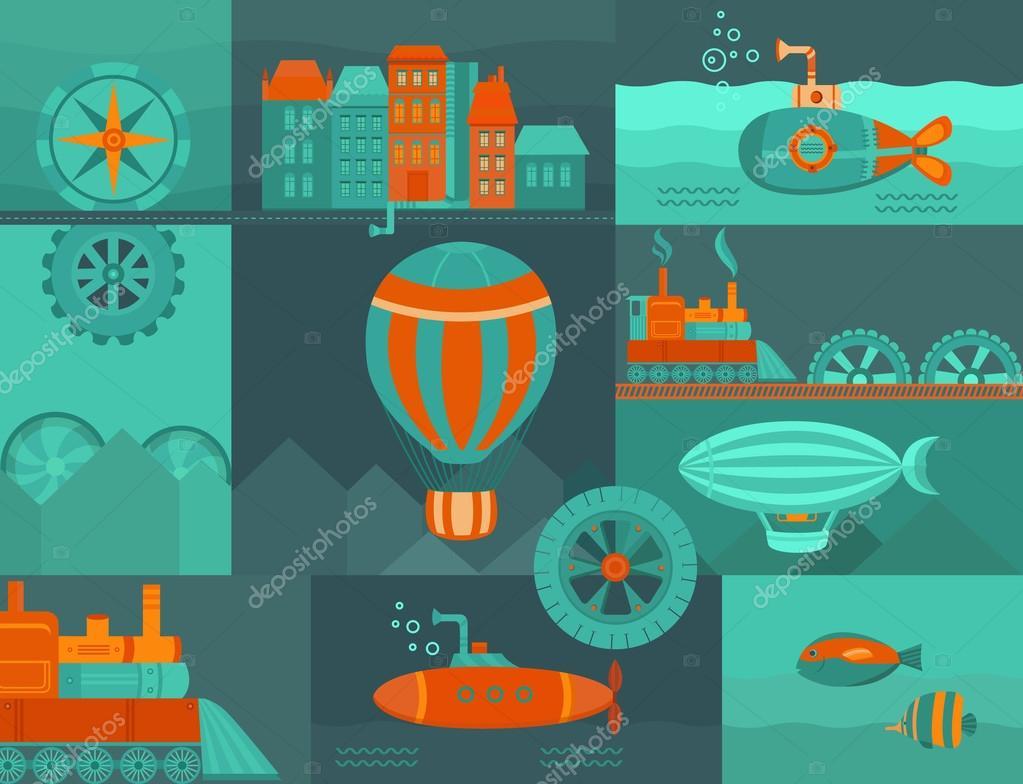 Vector background steampunk