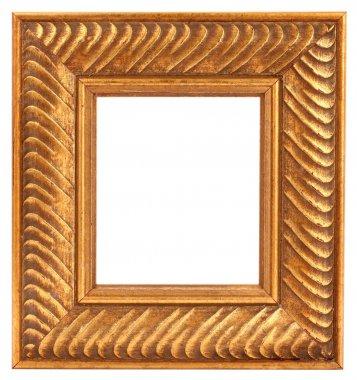 Old vintage golden frame
