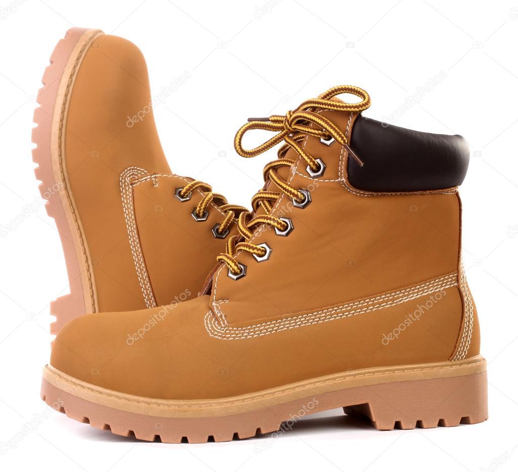 abd9d986c108ee Beżowy brązowy Buty robocze — Zdjęcie stockowe © upetrovic.hotmail ...