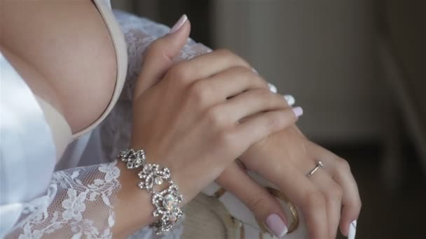 Elegant Fashionable Woman With Jewelry SLow Motion