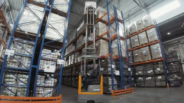 Autista di camion scarico magazzino Pallet In