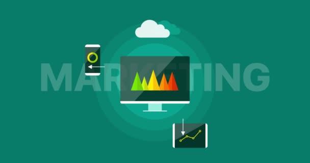 Digital marketing presentation infographic concept.