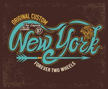 Motorcycle vintage graphics Emblem