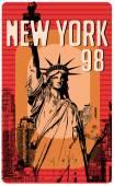 New Yorku silueta