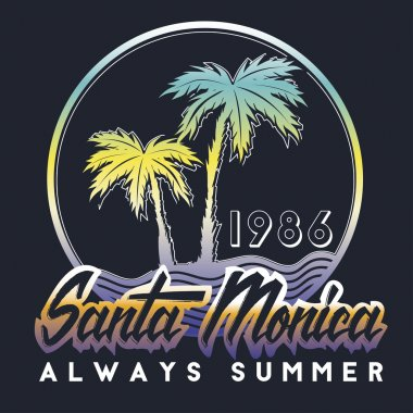 Santa Monica always surf typography