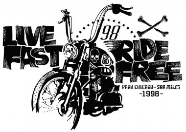 Vintage Motorcycle Printing for clothing