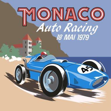 Monaco retro car race.