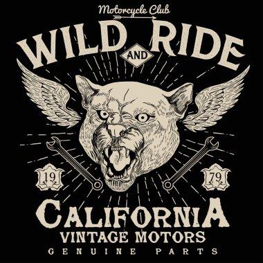 Motorcycle racing typography,