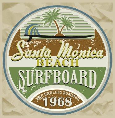 Surf Santa Monica typography