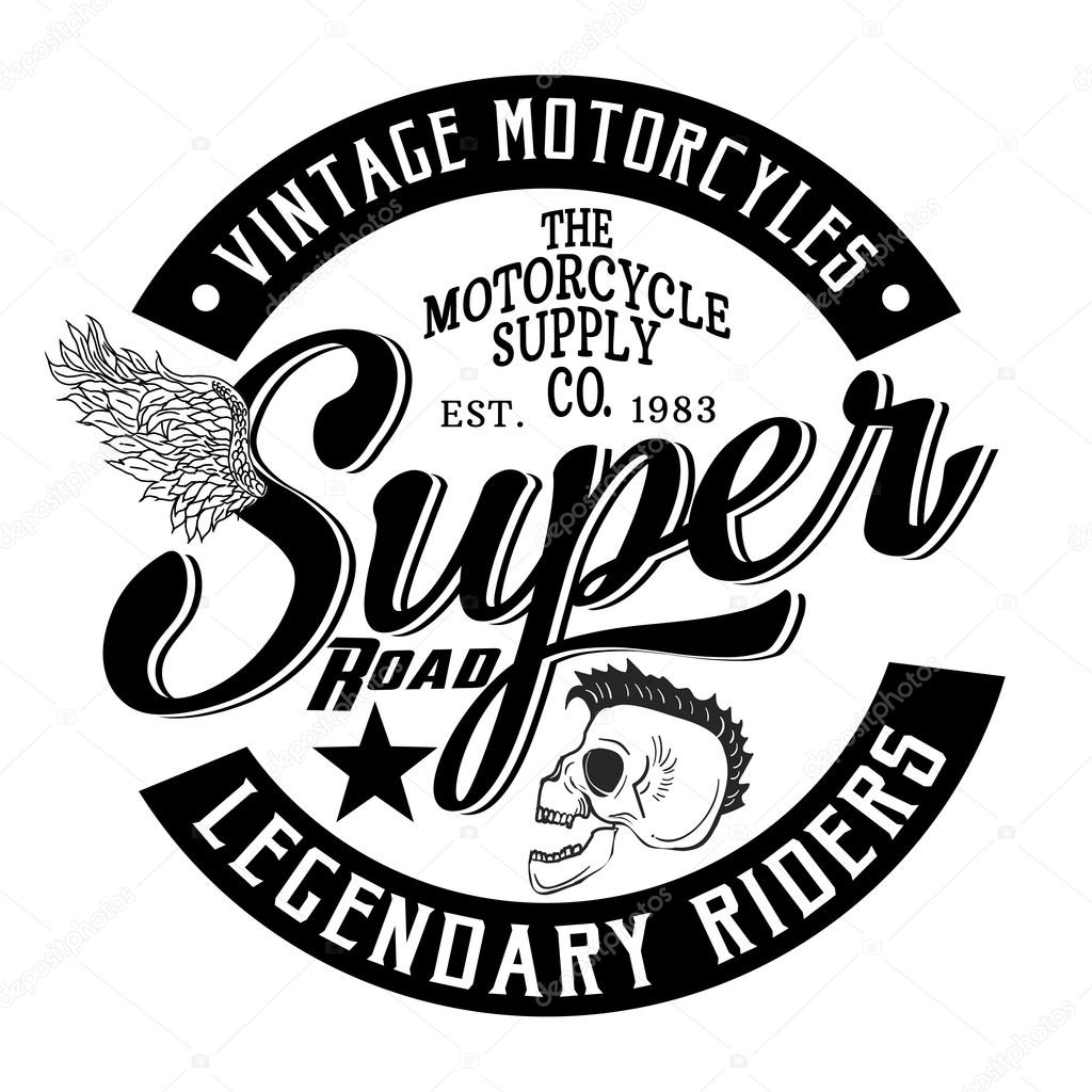 Vintage Motorcycles graphic