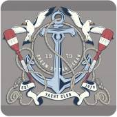 Fotografie Nautical Label with sample text