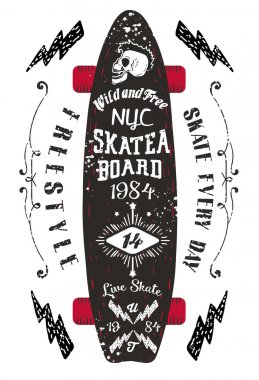 NYC SKATEBOARD in VINTAGE STYLE.