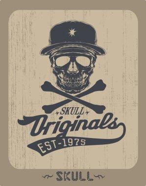Skull Frame in vintage style