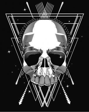 Modern style skull design